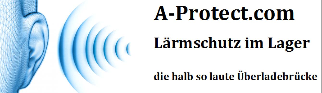 Logo_A-Protect.com, Laermschutz im Lager, die halb so laute Ueberladebrücke und Verladerampe